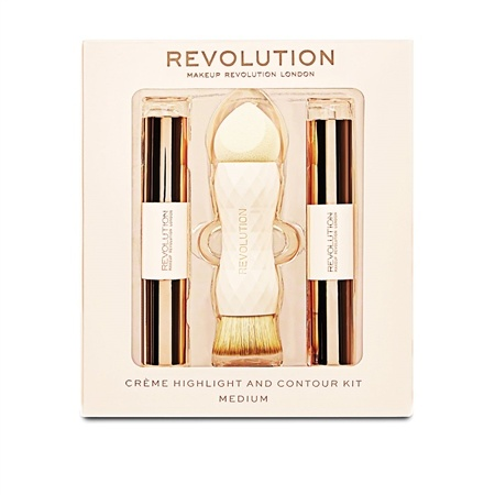 SAVE OVER 65% OFF Revolution Crème Highlight and Contour Kit - Medium!