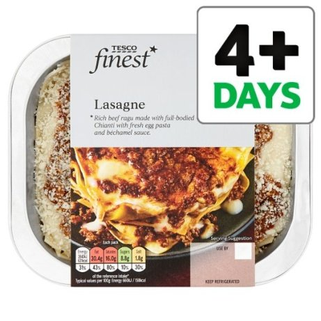 Tesco Finest Lasagne 400G just £3.70!