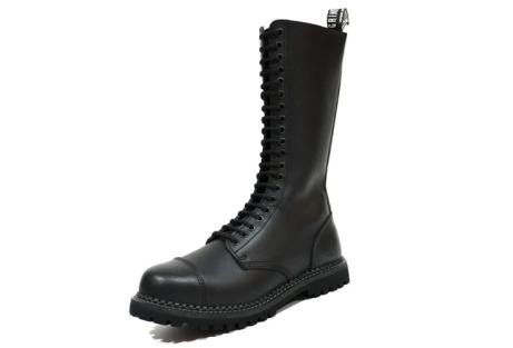 King Grinders Men's Black Leather Boots