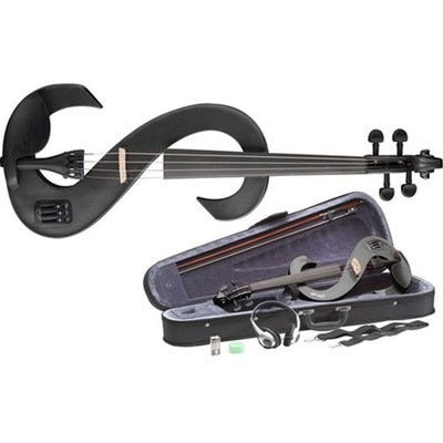 Stagg EVN Electric Violin Outfit - Metallic Black  £160.00