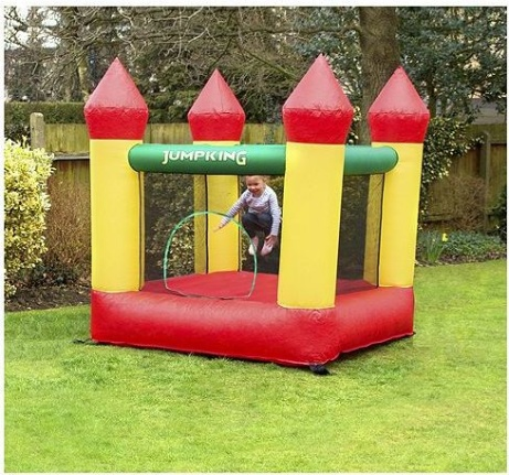 SAVE 50% OFF JumpKing Bouncy Castle with turrets 6.25ft X 6ft X 5ft!