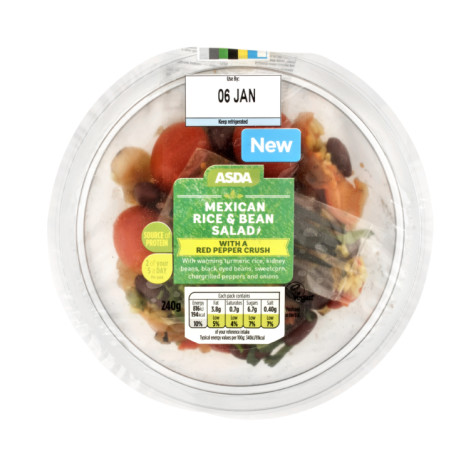VEGAN OPTIONS - Mexican Bean & Rice Salad: £2.50!