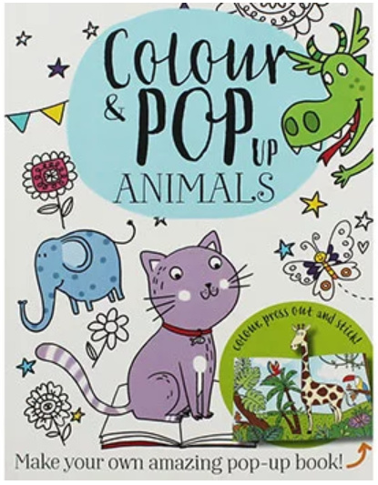 OVER 80% OFF - Colour and Pop-Up Animals - ONLY £1.50