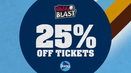 25% OFF selected Vitality Blast fixtures