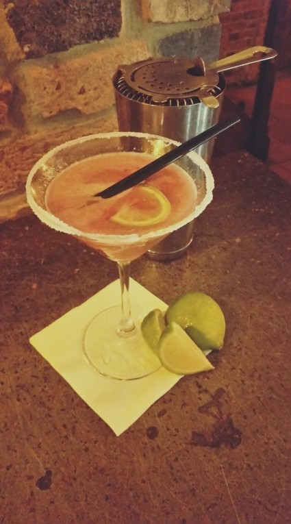 Come on down and try this week's cocktail of the week, A STRAWBERRY AND RHUBARB MARGARITA.