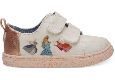 Disney X TOMS Pink Fairy Godmother Tiny TOMS Lenny Sneakers - £36.00!