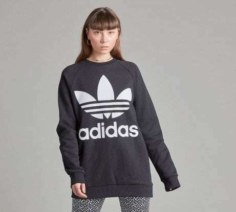 SAVE £18 - adidas Originals Womens Trefoil Oversize Sweatshirt!