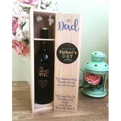 PRINTED FATHERS DAY WINE BOX