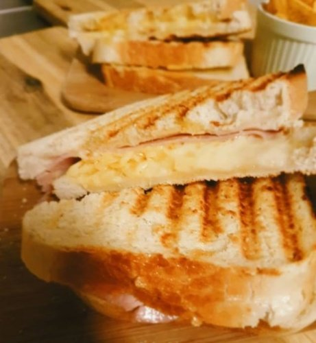 We love toasties - Our outdoor garden is a perfect spot for lunch!