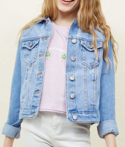 30% OFF - Teens Bright Blue Denim Jacket!