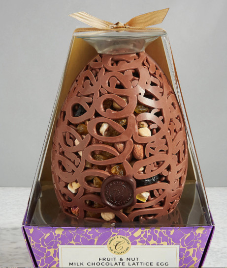 Fruit and Nut Milk Chocolate Lattice Egg £12.00!