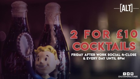 Tonight! It's 2 For £10 Cocktails ALL NIGHT! Including all New Cocktails!