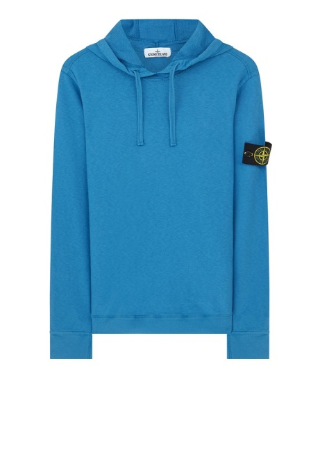 SAVE 59.00 -  Stone Island SS18 Hooded Sweatshirt in Blue!