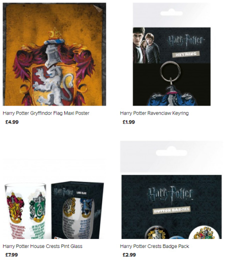 Find the perfect gift for any Harry Potter fan - Posters, Prints, Mugs, Keyrings and More!