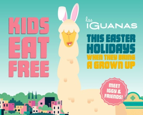KIDS EAT FREE this Easter - Just Bring a Grown Up!