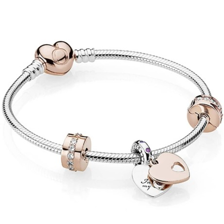 Give the gift of Pandora this Mothers Day - PANDORA ROSE IN MY HEART BRACELET: Save £20!