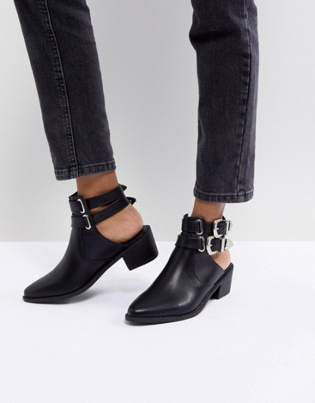 SAVE 58% on these Truffle Collection Western Buckle CutOut Boots!