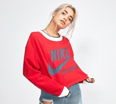 SAVE £10 on this Nike Womens Reversible Sweatshirt in University Red!