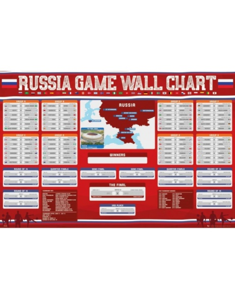World Cup 2018 - Russia Wall Chart Maxi Poster ONLY £4.99!