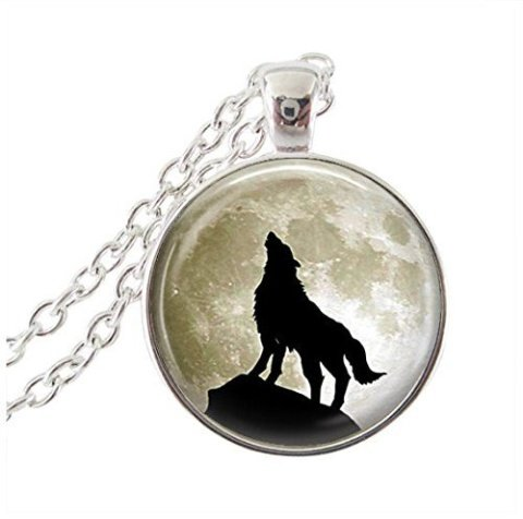 WIN - Wolf Howling at the Moon Pendant