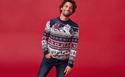 Men's clothing - Ski scene jumper: £20!