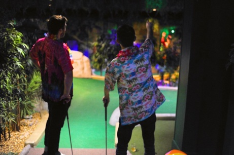 Why not celebrate the start of the weekend with 18 holes of Adventure Golf?