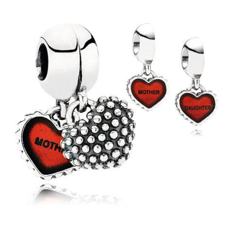 BRILLIANT GIFT IDEAS - MOTHER & DAUGHTER PENDANT CHARM 30% OFF!