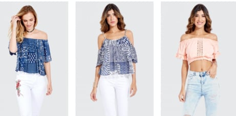 Up to 70% OFF Tops at Select Fashion!