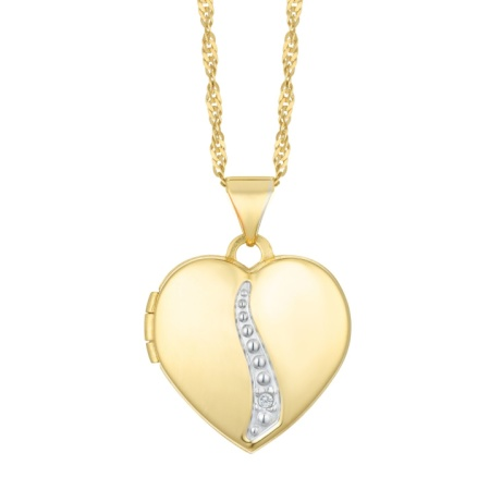 60% OFF - Together Silver & 9ct Bonded Gold Diamond Pendant!