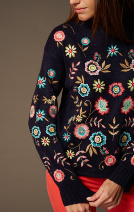 Save £7.50 on this Premium Multicoloured Embroidered Jumper