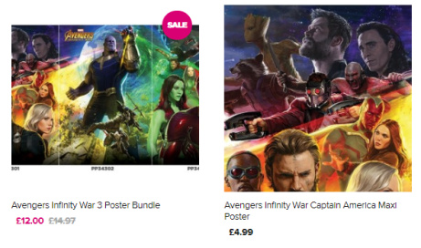Avengers Infinity War poster in stock now. Be quick, they're selling fast!