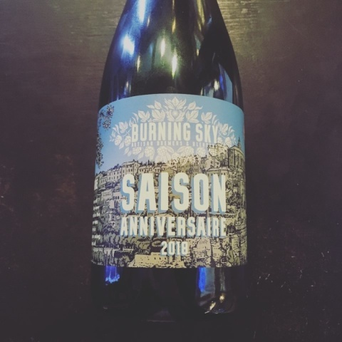 Saison Anniversaire 2018 just in from Burning Sky Brewery