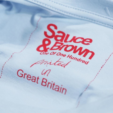 We print our T-Shirts in Great Britain & use Water Based Inks.
