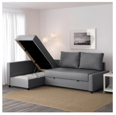 Corner sofa-bed with storage - £429.00!