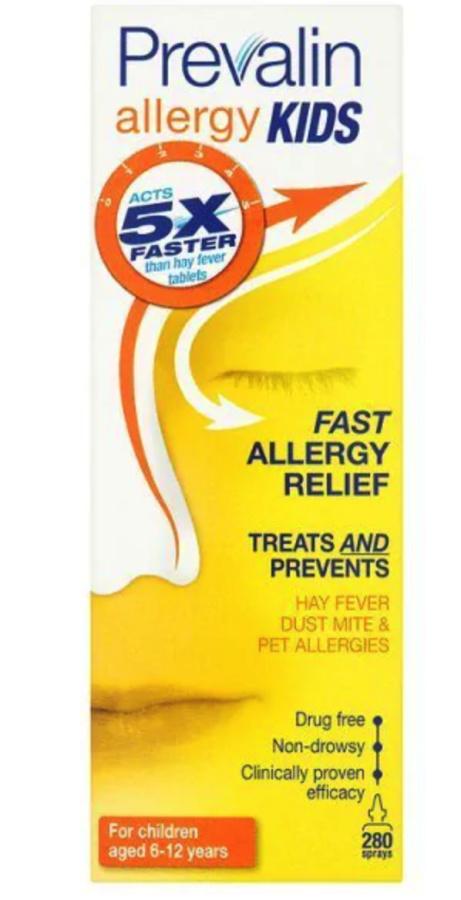 SAVE 55% OFF Prevalin Allergy Kids Hay Fever Relief Nasal Spray 20ml!