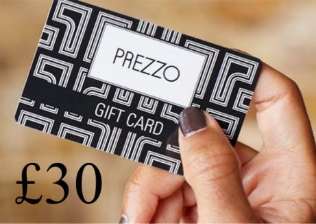 WIN - £30 Prezzo Gift Card