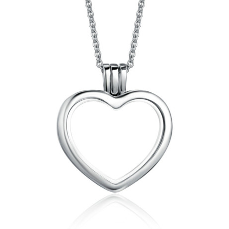 Save £37 on this Silver Heart Floating Locket Necklace