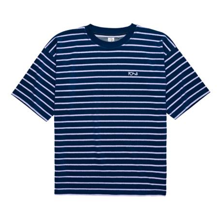 Polar Striped Terry Surf Tee Navy-Violet: £55.00!