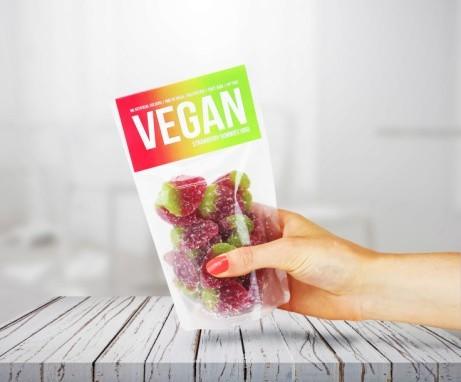 Vegan Gummies: Vegan Strawberry Gummies Pouch £2.95!