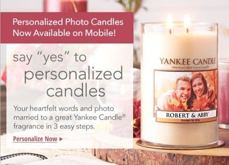 Shop Personalized Yankee Candles for that special someone this Valentine's Day!