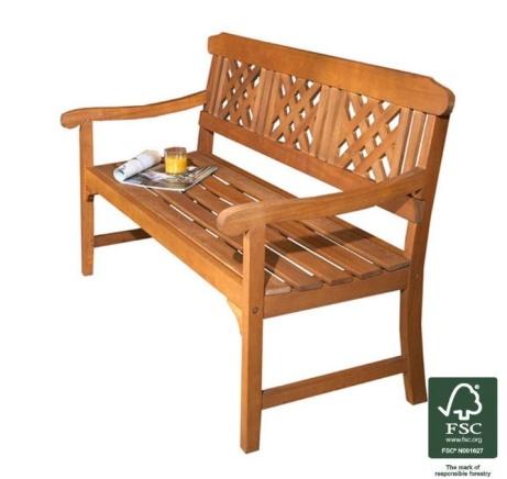 SAVE 33% OFF Robert Dyas FSC 3-Seater Garden Fence Bench!