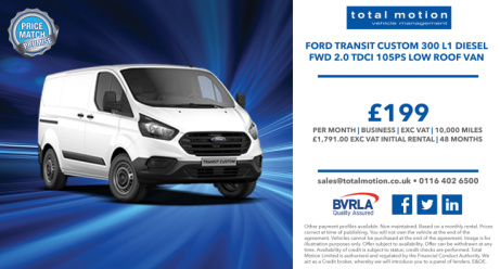 Ford Transit Custom Business Leasing Offer | £199 + VAT P/M!