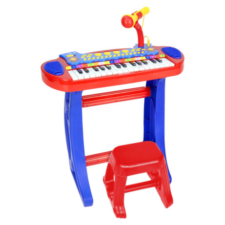 Bontempi Electronic Keyboard With Microphone & Stool - SAVE 26%
