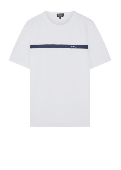 £48.00 - A.P.C. Yukata Logo T-Shirt in White!