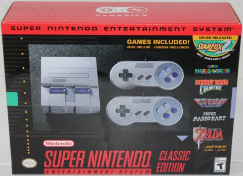 COOL XMAS GIFTS - SUPER NINTENDO ENTERTAINMENT SYSTEM CLASSIC EDITION £69.99!