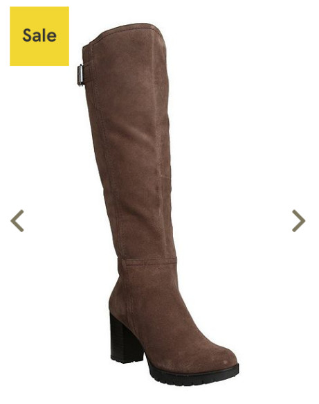 SAVE 25% on F&F Sensitive Sole Suede Knee High Boots!