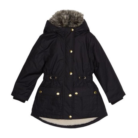50% OFF this BLUEZOO Girls' Black Borg Lined Parka Coat!