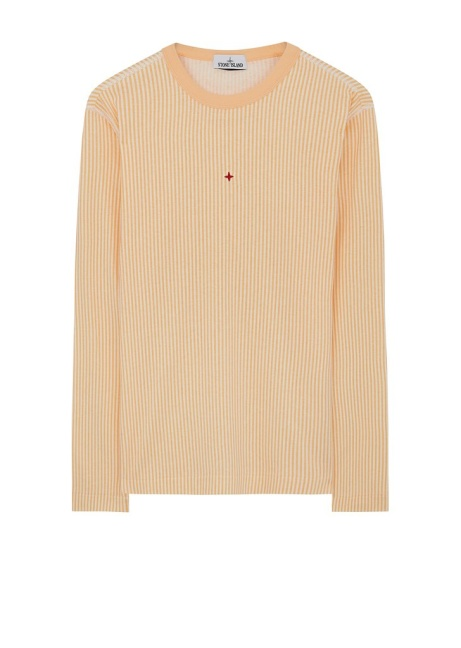 SAVE £50.00 - Stone Island SS18 Marina Long Sleeve T-Shirt in Salmon