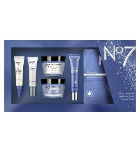 Better than 1/2 price on selected No7 skincare collections - No7 Luminate Triple Action Colleciton!