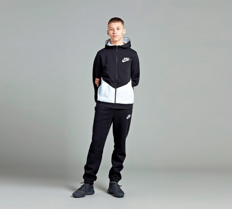 SAVE 27% on this Nike Junior Core Tracksuit in Black / White!